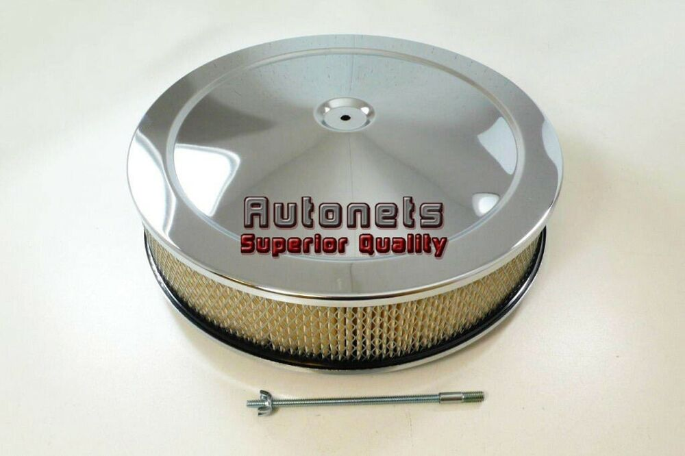 Hot Rod Air Cleaner : Quot round muscle car chrome air cleaner breather hot rat