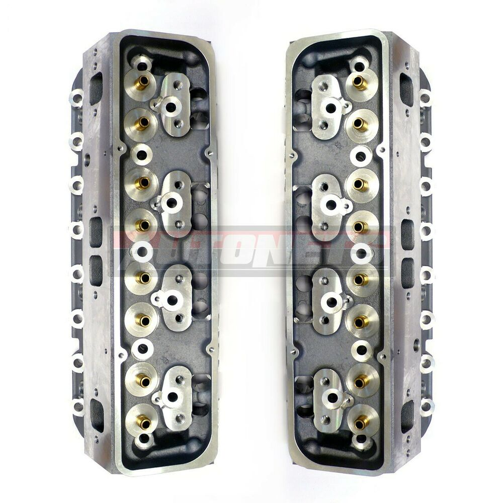 Small Block Chevy Aluminum Bare Cylinder Head Pair SBC 327