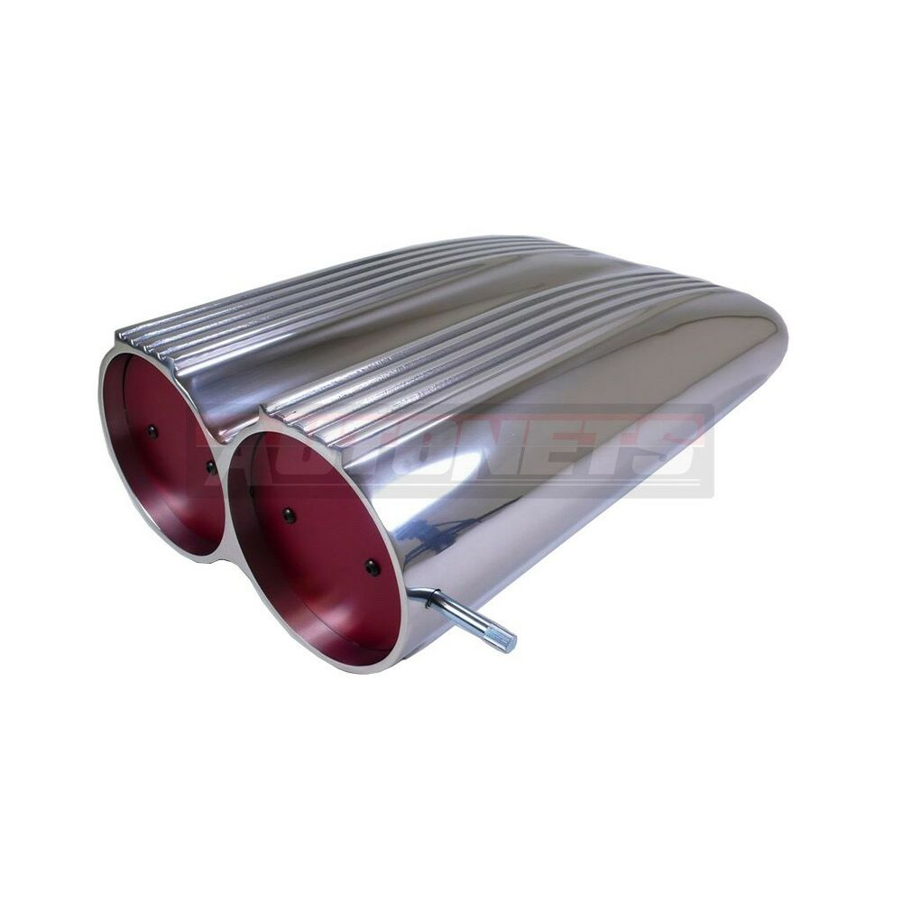 Tunnel Ram Scoop Air Cleaner : Finned polished aluminum shotgun scoop air cleaner street