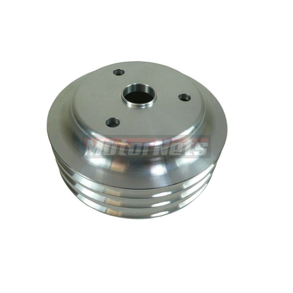 Stain Aluminum SBC Chevy 283-350 Crankshaft Pulley Long