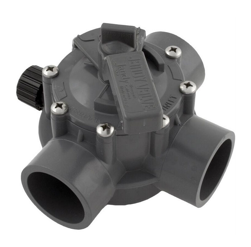 jandy 1154 swimming pool spa 3 way port valve 1 1 2 2 positive seal cpvc ebay