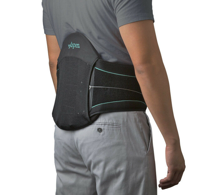 Aspen Medical Summit L0631 Lumbar Support Back Brace Black