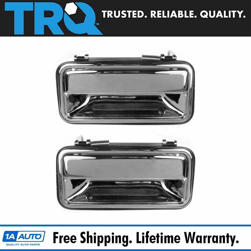 Exterior Door Handle Rear Pair Outer Chrome For Chevy Gmc Tahoe Yukon Pickup Ebay