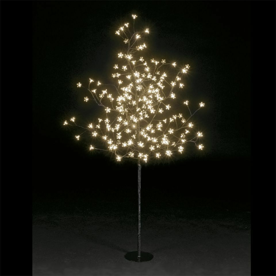 5ft 200 led lights christmas cherry blossom tree indoor or outdoor ebay. Black Bedroom Furniture Sets. Home Design Ideas