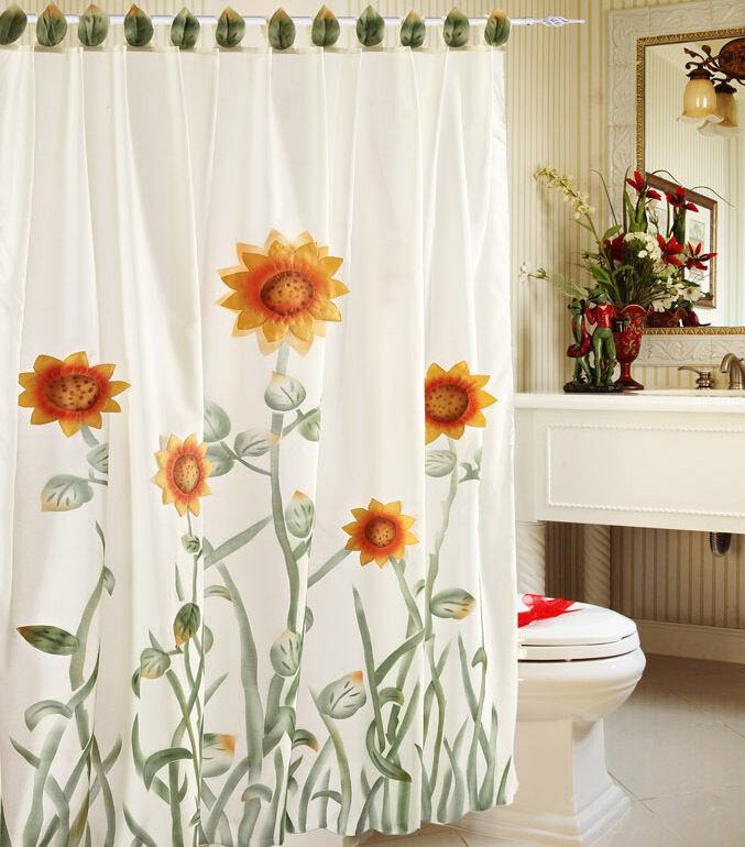 Sunflower Shower Curtain Hooks
