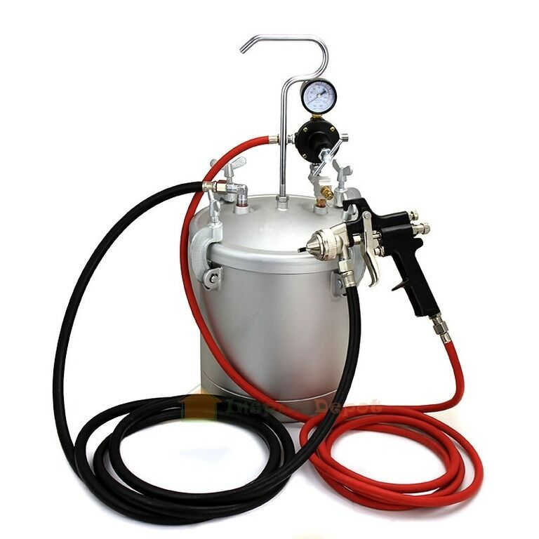 Air Spraying Pressure Spray Gun Paint Tank Pot 2 1 4 Quot Gal