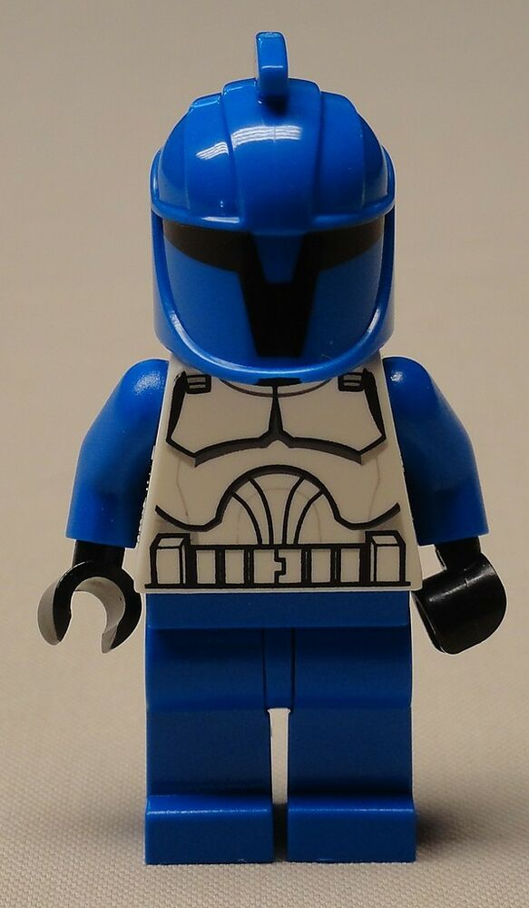 new lego star wars minifig clone storm trooper white blue guy ebay. Black Bedroom Furniture Sets. Home Design Ideas