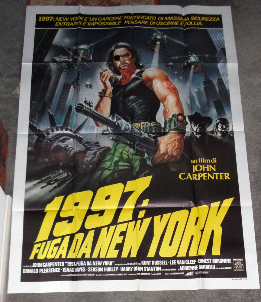 ESCAPE FROM NEW YORK Original Large Rare 1981 Movie Poster
