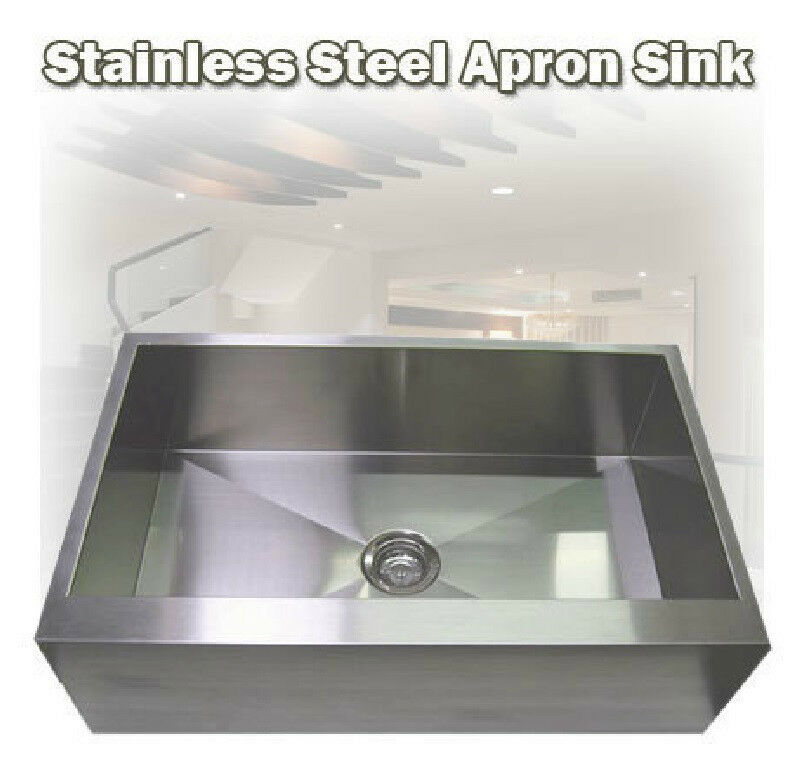ebay sinks kitchen 33 quot stainless steel flat apron kitchen farm sink ebay 3516