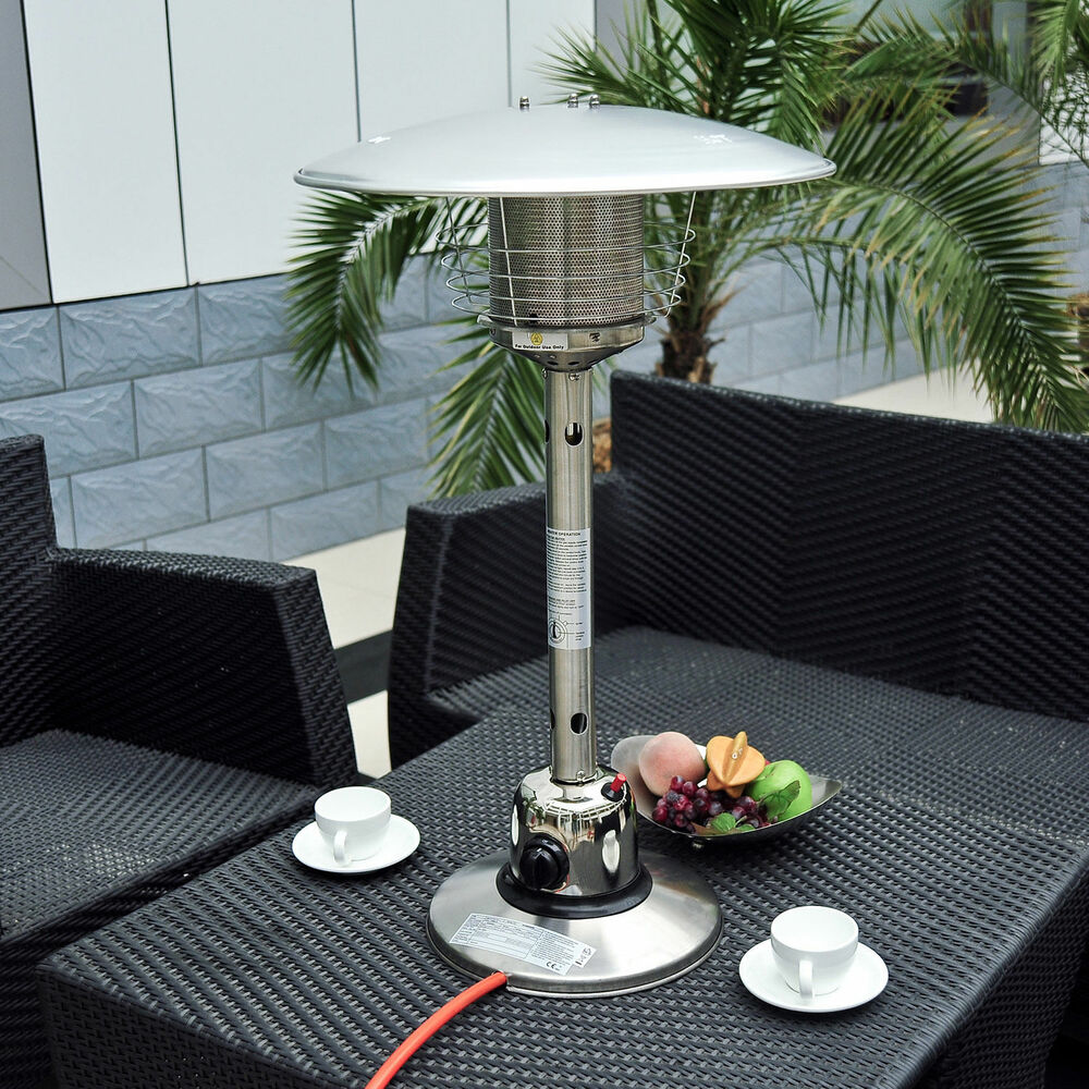 Table top Gas Patio Heater Stainless Steel Outdoor Heating ...