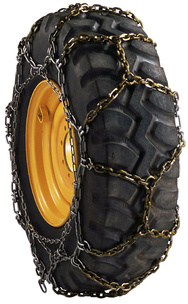 Tractor Tire Chain Links : Rud square link diamond pattern grader tire