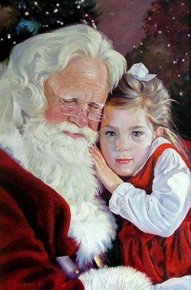Charming Oil painting Christmas Gifts - Santa Claus and ...