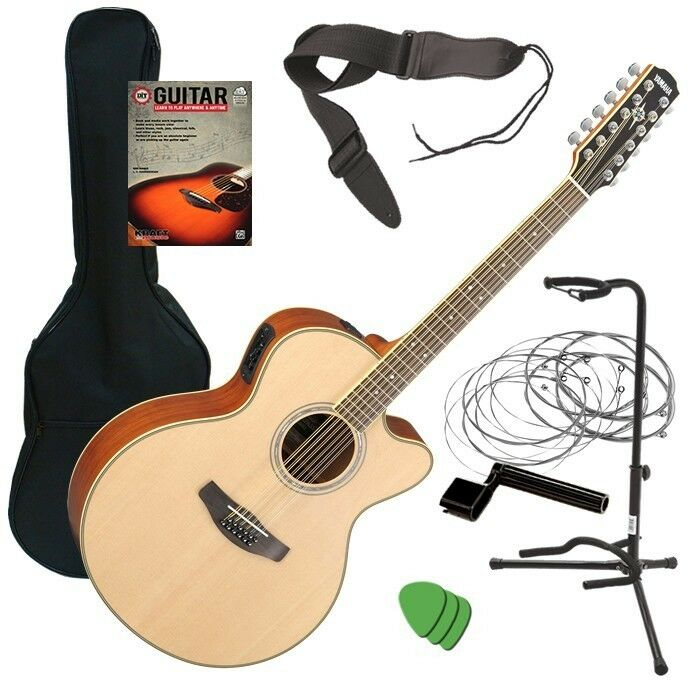 Essential Accessories For Electric Guitar : yamaha cpx700ii 12 acoustic electric guitar natural guitar essentials bundle 86792841205 ebay ~ Hamham.info Haus und Dekorationen
