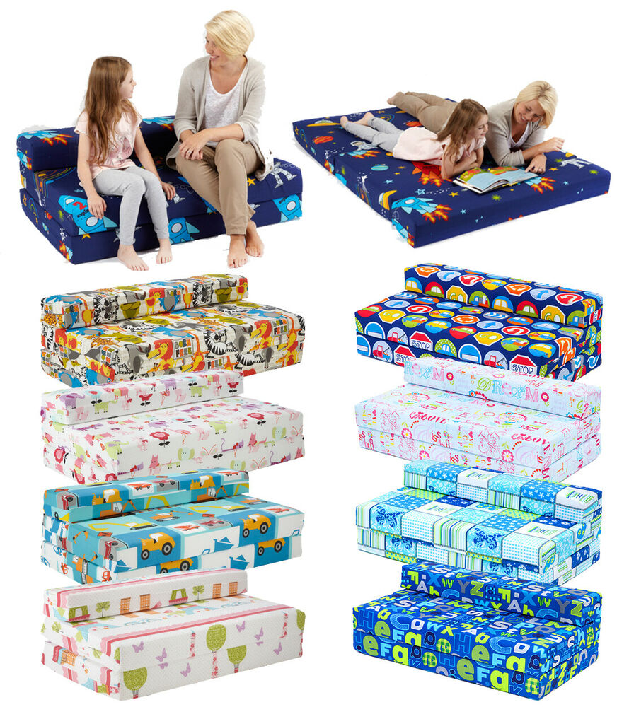 Childrens Character Kids Double Guest Folding Z Bed Sleeping Mattress Sofabed Ebay