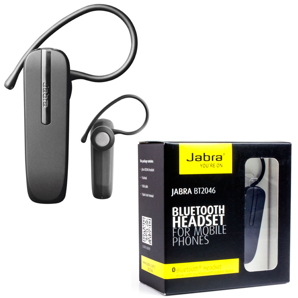 genuine jabra bt2046 bluetooth headset for galaxy s5 s4 s3 s2 s3 mini s5 mini ebay. Black Bedroom Furniture Sets. Home Design Ideas
