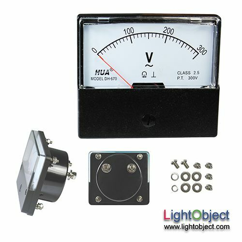 L De Voltage Meter : Ac v analog panel volt meter ebay