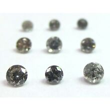 1/4 Carats 1.7mm GREY ROUND BRILLIANT POLISHED DIAMONDS