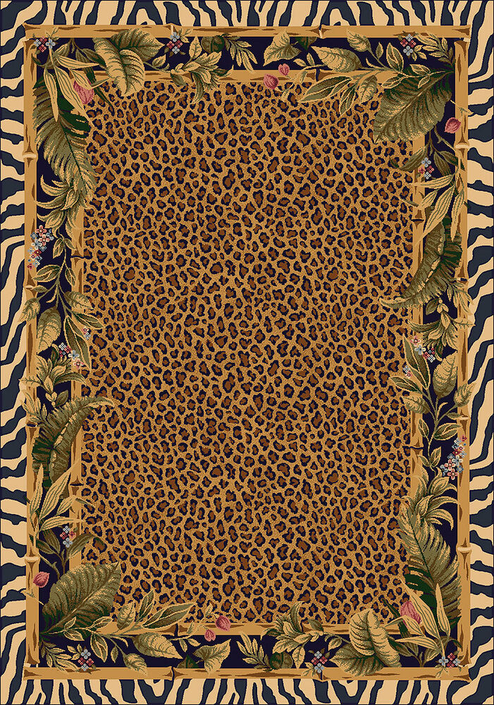 8x11 Milliken Jungle Safari Skins Tropical Zebra Area Rug