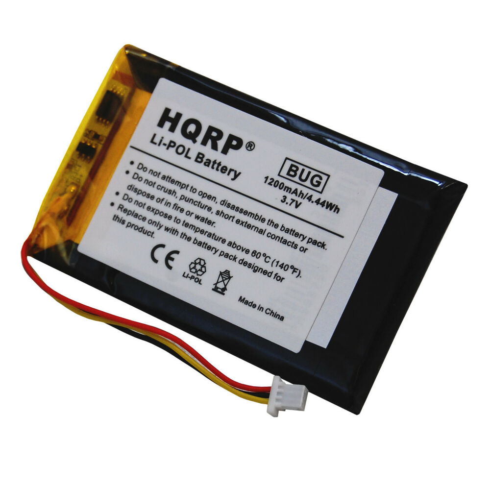 hqrp 1200mah battery for garmin nuvi 1300 1340t pro 1350. Black Bedroom Furniture Sets. Home Design Ideas