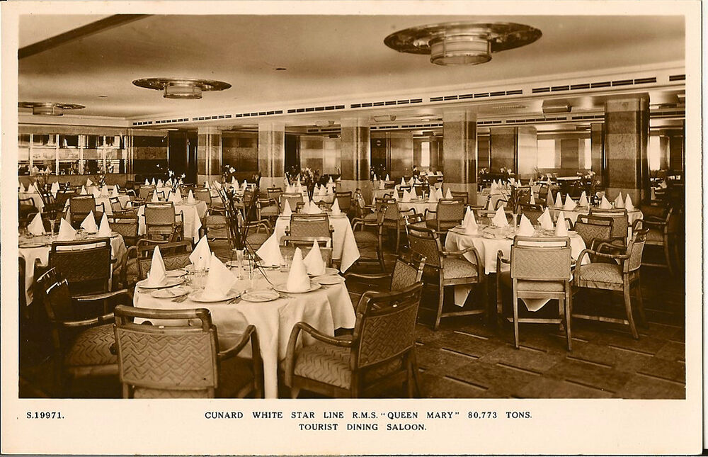 shipping cunard r m s queen mary tourist dining saloon