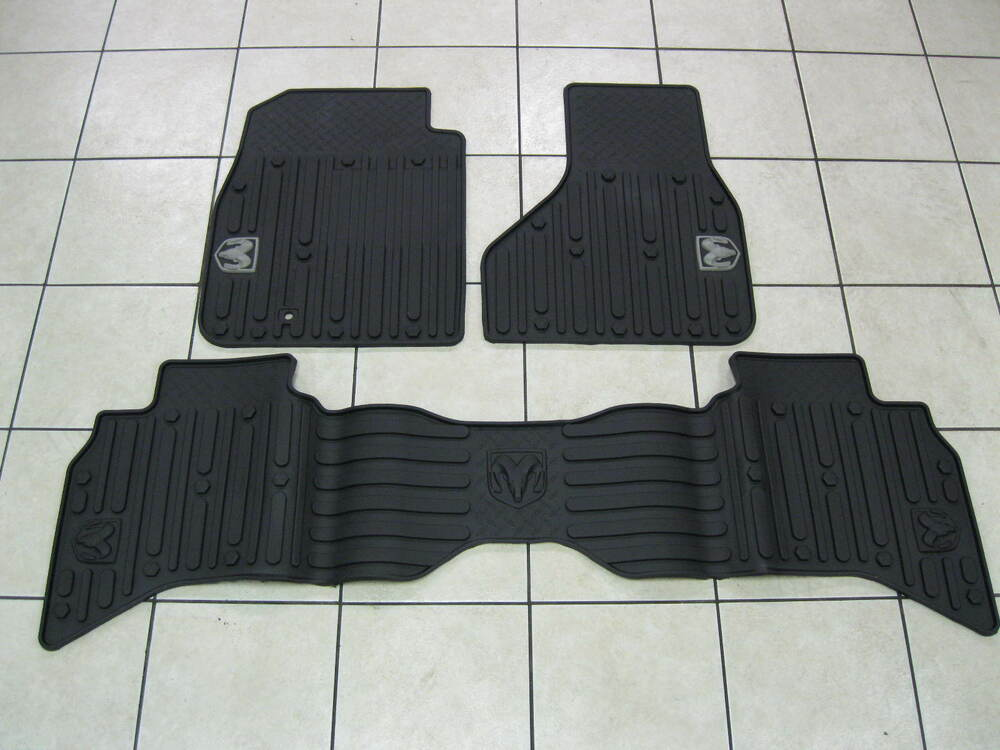 09 12 Dodge Ram 1500 New Slush Mats Dark Slate Quad Cab