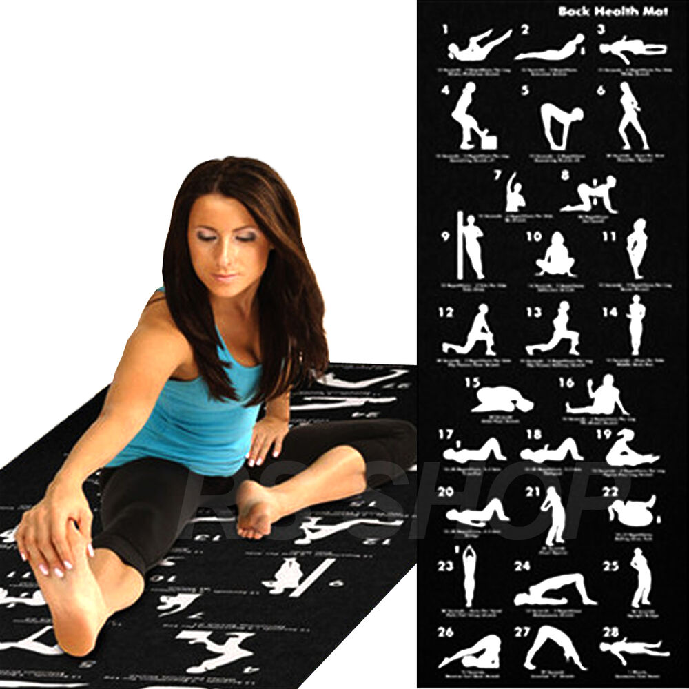 Step Fitness Dvd Uk: 28 Position Excercise Guide Mat Yoga Exercise Fitness