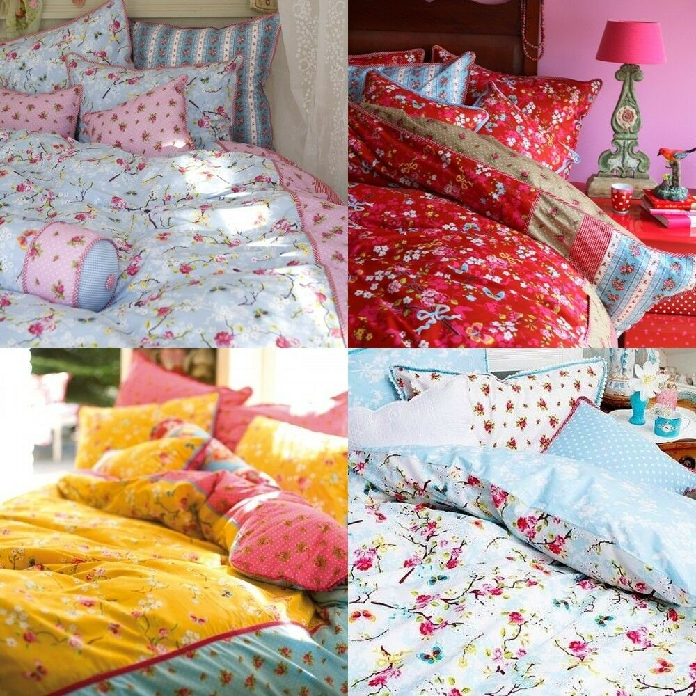 pip bettw sche chinese rose rosa blau rot gelb weiss 4 farben 2 gr en baumwolle ebay. Black Bedroom Furniture Sets. Home Design Ideas
