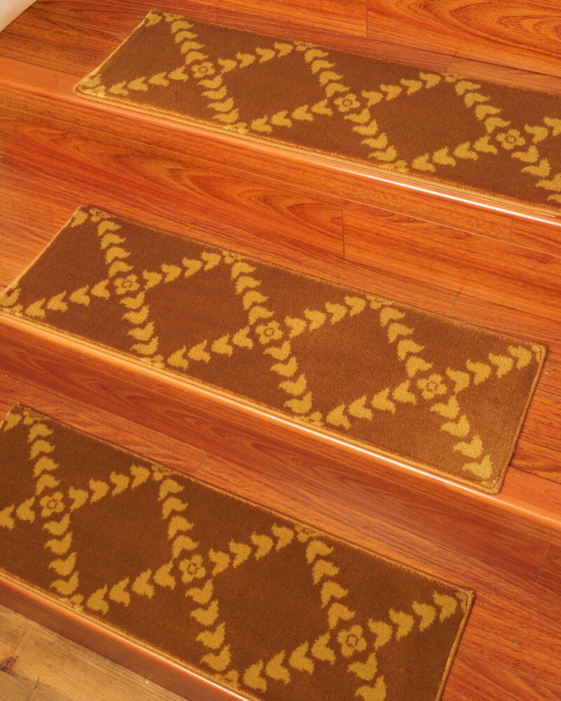 Hand crafted royal soft durable carpet stair treads 9 x29 for Durable carpet for stairs