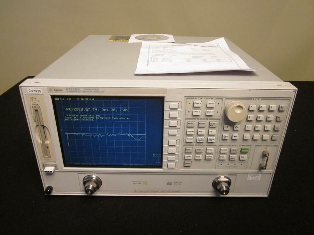 Electrical Network Analyzer : Agilent es mhz to ghz vector network analyzer w