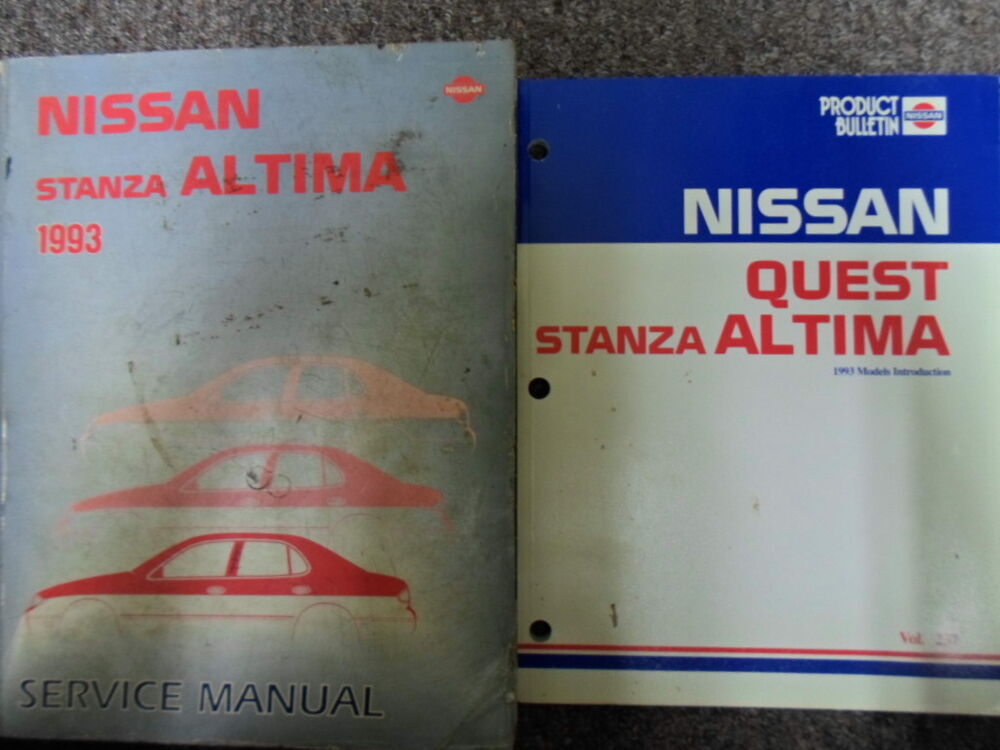 1993 nissan altima stanza service repair shop manual set. Black Bedroom Furniture Sets. Home Design Ideas