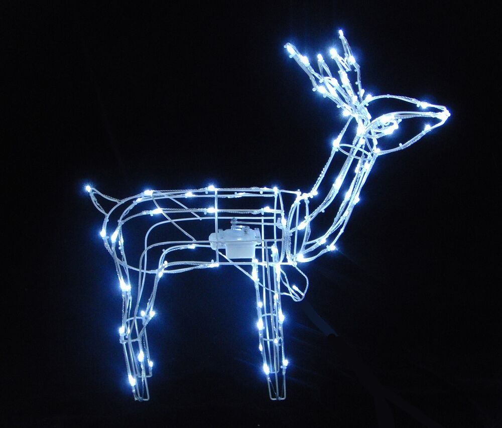 79cm animated light up reindeer stag with white led. Black Bedroom Furniture Sets. Home Design Ideas