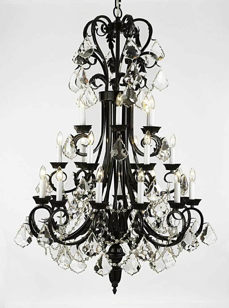 Large Foyer Lantern Chandelier : Light large beautiful quot x metal or wrought iron