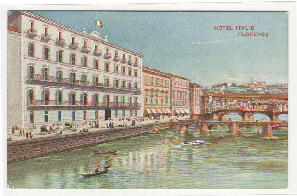 Hotel italie florence firenze italy postcard ebay for Hotel design florence italie