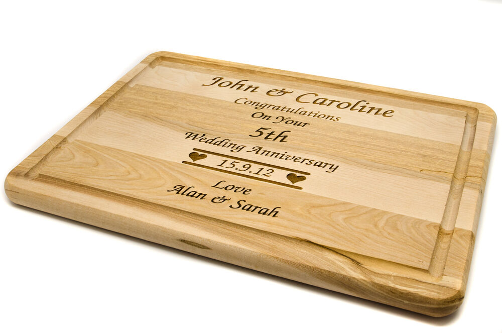 Personalised wooden chopping board laser engraved with any message ebay - Engraved wooden chopping boards ...