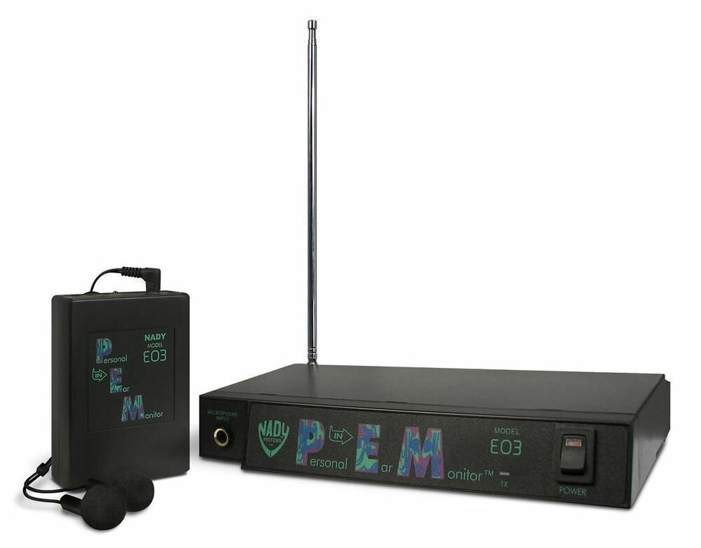 nady eo3 ee in ear wireless stage monitor system with ear buds ebay. Black Bedroom Furniture Sets. Home Design Ideas