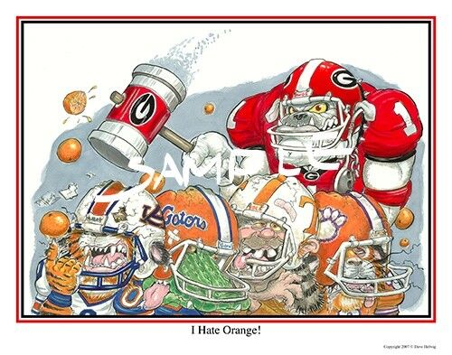 "Georgia Bulldogs Sec Championship 2017 >> University of Georgia Bulldogs Football Dave Helwig ""PICK ANY FIVE DEAL"" artwork 