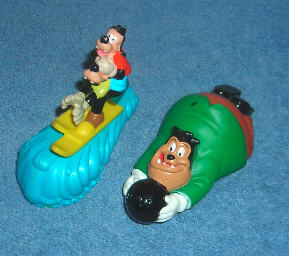 Disney Goofy Goof Troop Lot Of 2 Pull And Go Toy Figure