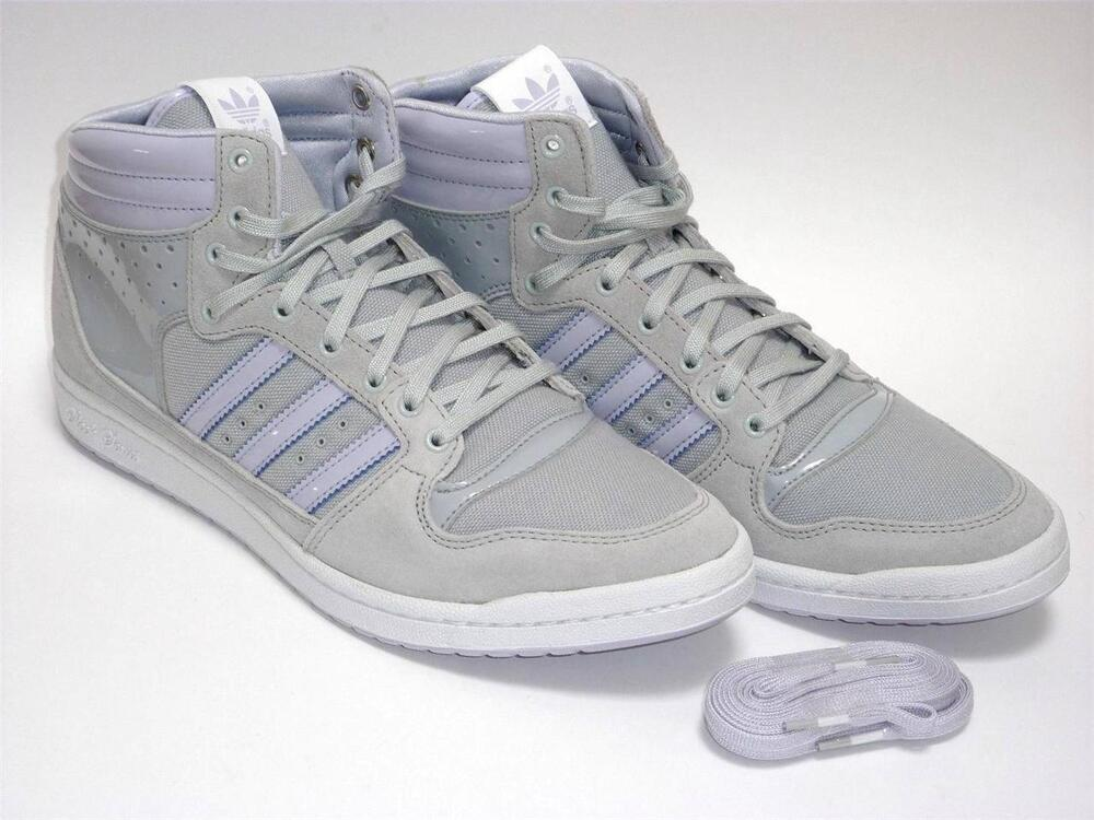 adidas originals women 39 s decade hi sleek high top trainers fashion sneakers grey ebay. Black Bedroom Furniture Sets. Home Design Ideas