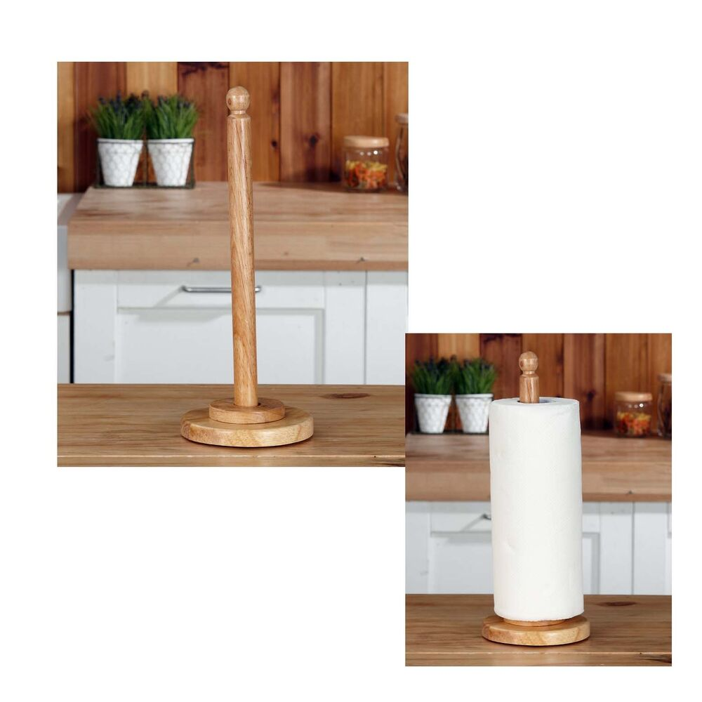 Countertop Paper Towel Holder : Rubber Wood Countertop Kitchen Paper Towel Holder Sink Organizer Free ...