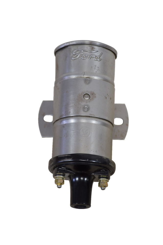 6 Volt Ignition Coil : Ford model a volt ignition coil assembly with script