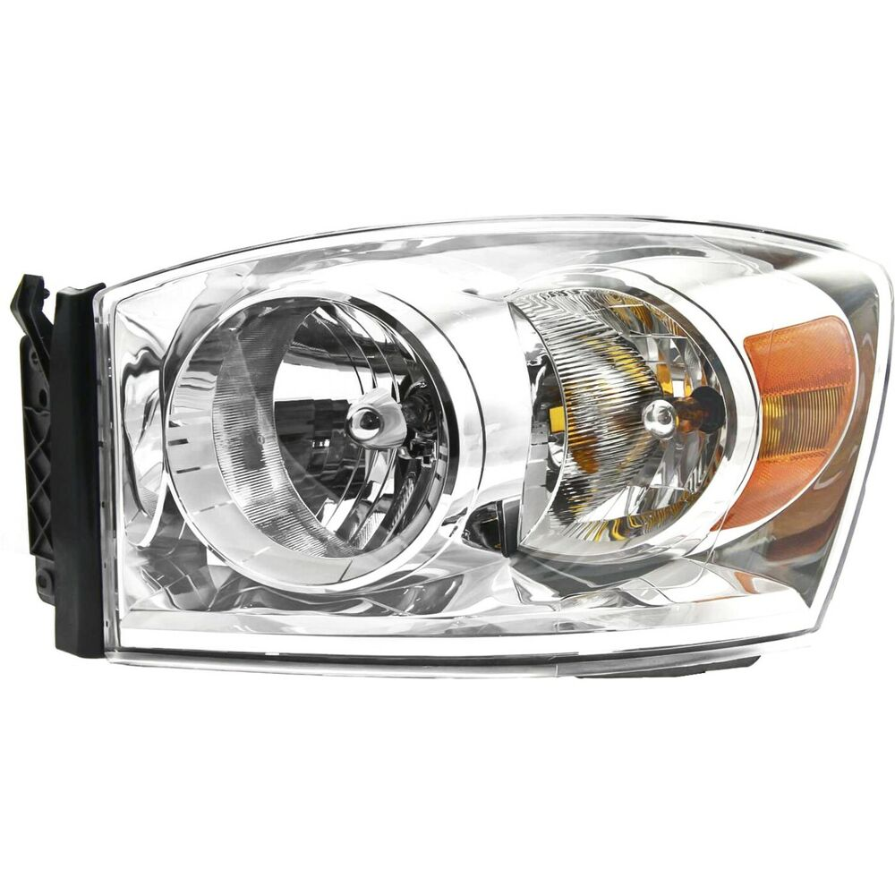 headlight for 2007 2009 dodge ram 1500 ram 2500 driver. Black Bedroom Furniture Sets. Home Design Ideas