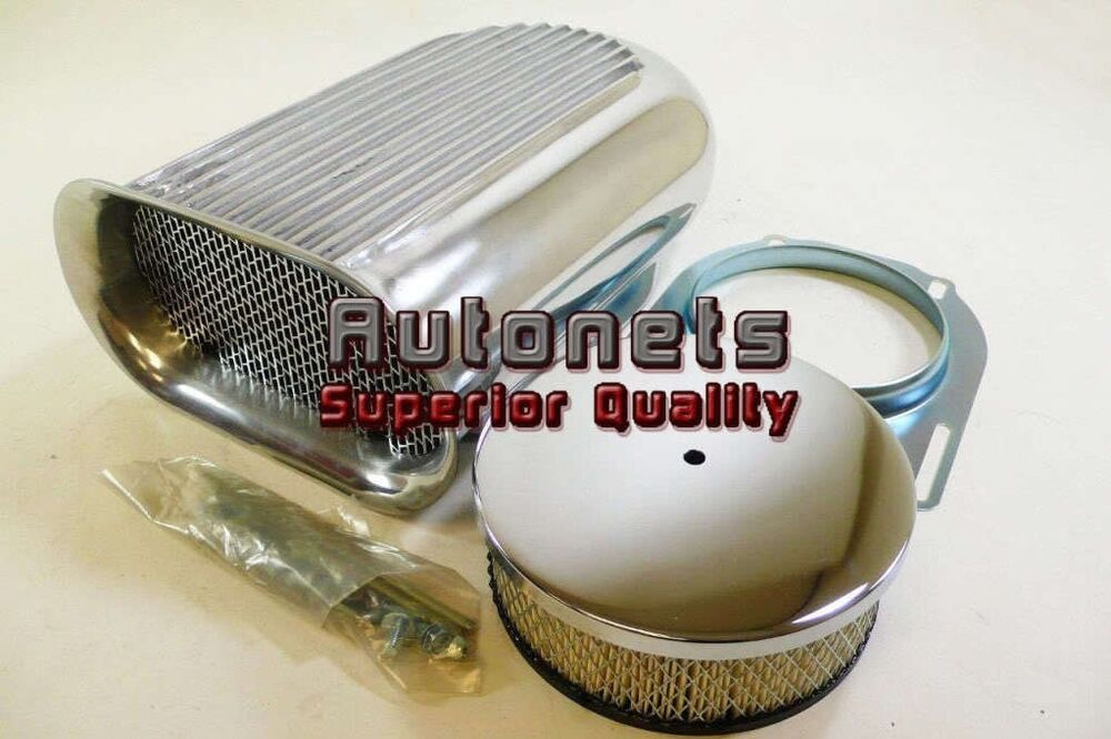 Blower Air Cleaners And Scoops : Single carb polished aluminum hilborn style small scoop