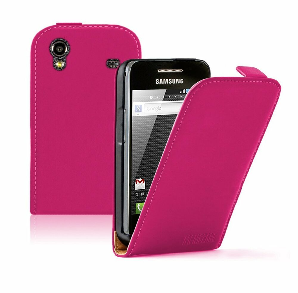 ultra slim pink leather case for phone samsung galaxy ace
