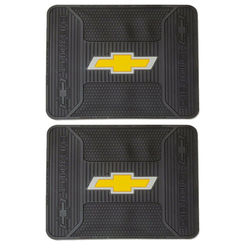 2pcs Chevrolet Chevy Elite Logo Rubber Rear Floor Mats Set