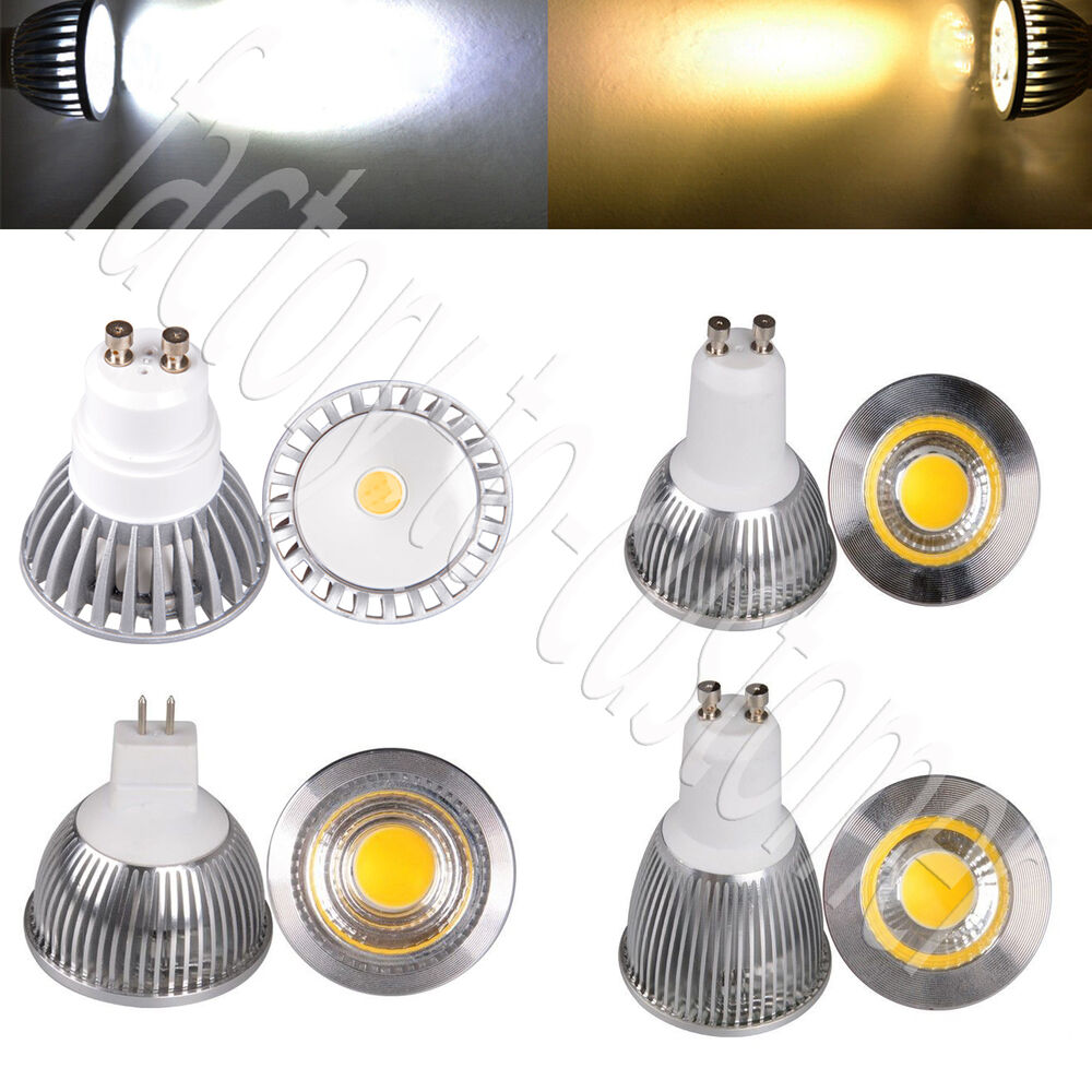 mr16 gu10 led cob spot down light lamp bulb 5w 7w 9w spotlight 220v 12v white ebay. Black Bedroom Furniture Sets. Home Design Ideas