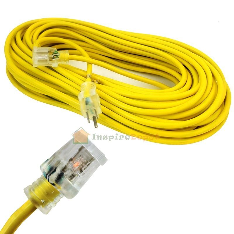Electric Extension Cable : Power cord extension ga gauge ft electric clear