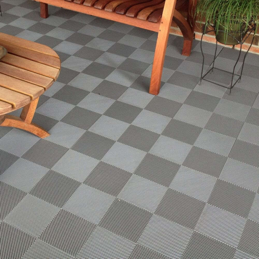 Blocktile deck and patio flooring interlocking perforated for Terrace tiles