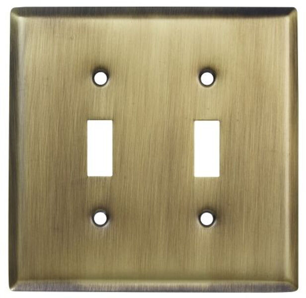Double Light Switch Wallplate Wall Plate Outlet Cover Antique Bronze Brass eBay