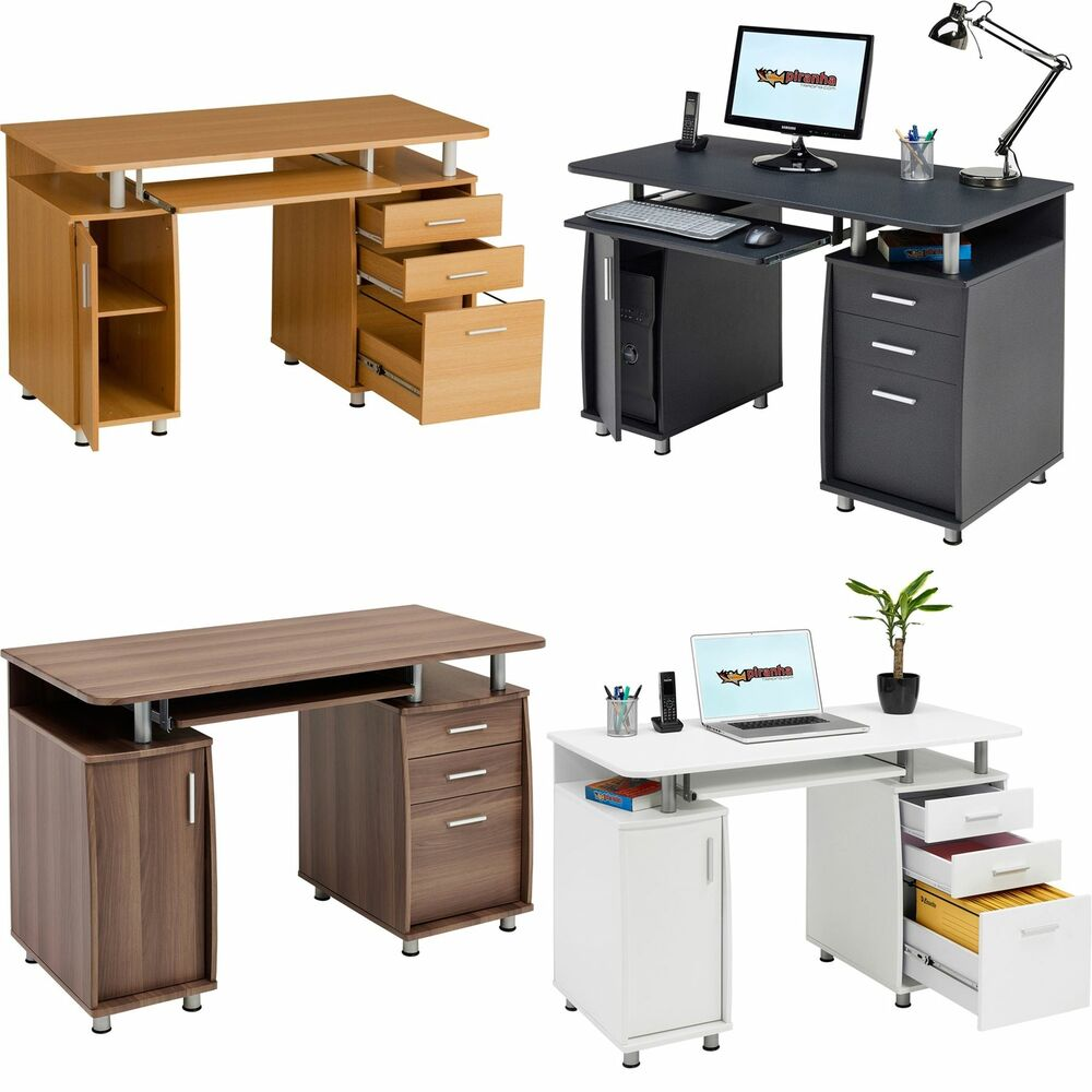Cool Single Pedestal L Shape Laminate Office Furniture Desks  EBay