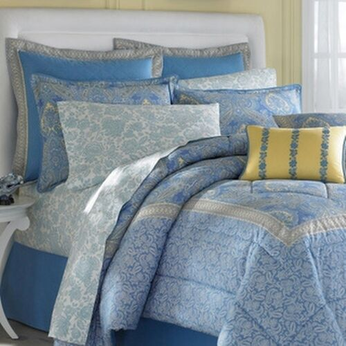 Laura Ashley Prescot Cotton 4 Piece Comforter Set Ebay